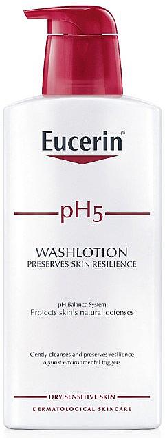 PRZECENA! Oczyszczający lotion do wrażliwej skóry ciała - Eucerin pH5 WashLotion * — фото N1