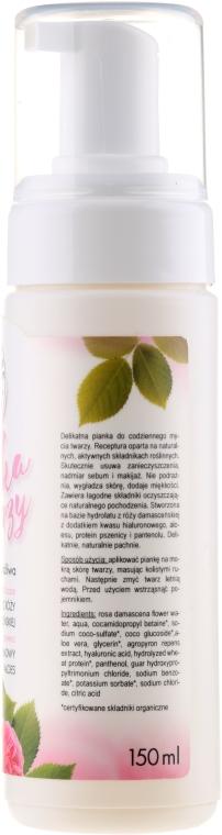 Pianka do twarzy na bazie hydrolatu z róży damasceńskiej do skóry suchej i wrażliwej - E-Fiore — фото N2