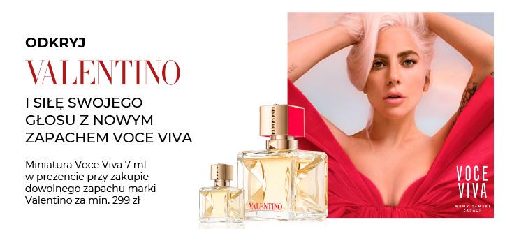 Przy zakupie dowolnego zapachu Valentino za min. 299 zł, miniaturę voce Viva 7 ml otrzymasz w prezencie.