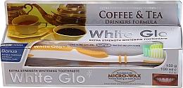 Kup Zestaw do czyszczenia zębów przeciw plamom z kawy i herbaty - White Glo Coffee & Tea Drinkers Formula Whitening Toothpaste (t/paste 100 ml + t/brush)
