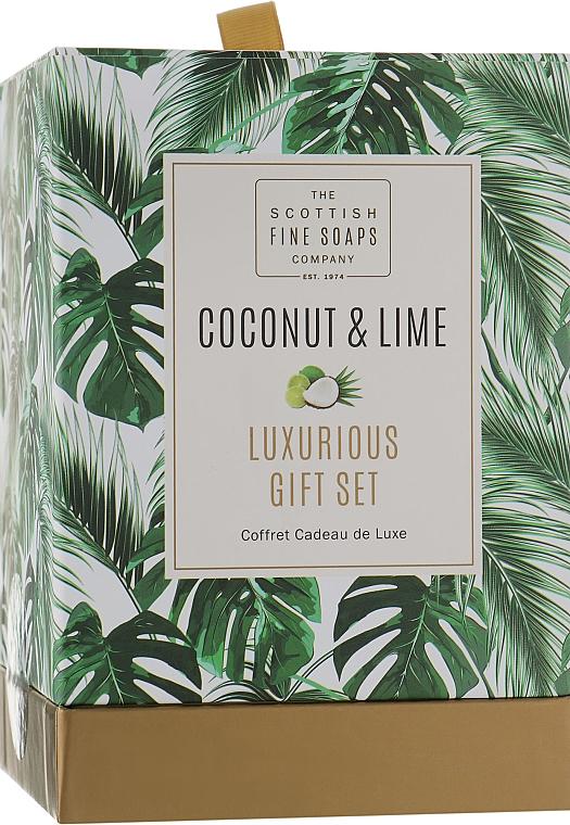 Zestaw - Scottish Fine Soaps Coconut & Lime (sh/gel/75ml + b/oil/75ml + h/cr/75ml + soap/40g) — фото N1