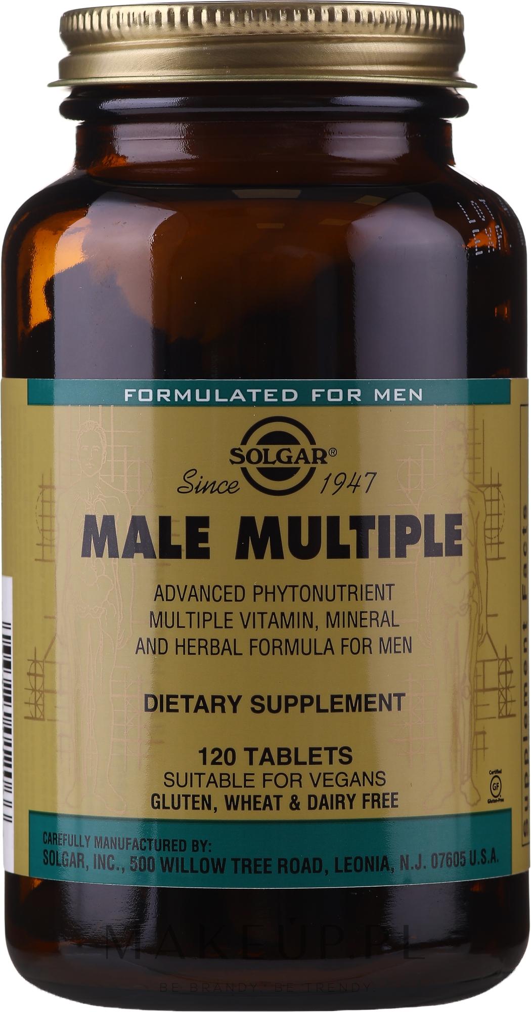 Witaminy dla mężczyzn - Solgar Male Multiple — фото 120 szt.