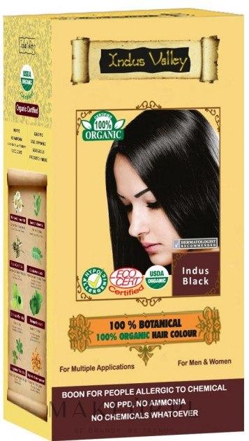 Organiczna farba do włosów z henną - Indus Valley 100% Botanical Hair Colour — фото Indus Black