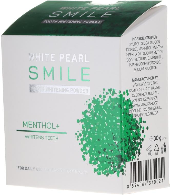 Wybielający proszek do zębów z mentolem - VitalCare White Pearl Smile Tooth Whitening Powder Menthol+ — фото N1