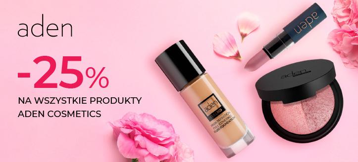 Zniżka 25% na wszystkie produkty Aden Cosmetics. Ceny na stronie zawierają rabat.