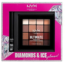 Kup Zestaw - NYX Professional Makeup Diamonds & Ice Please Shadow & Liner Set (sh/palette/12x1.18g+liner/2ml)