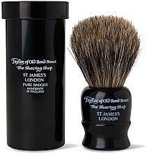 Kup Pędzel do golenia, 8,25 cm z etui podróżnym, czarny - Taylor of Old Bond Street Shaving Brush Pure Badger