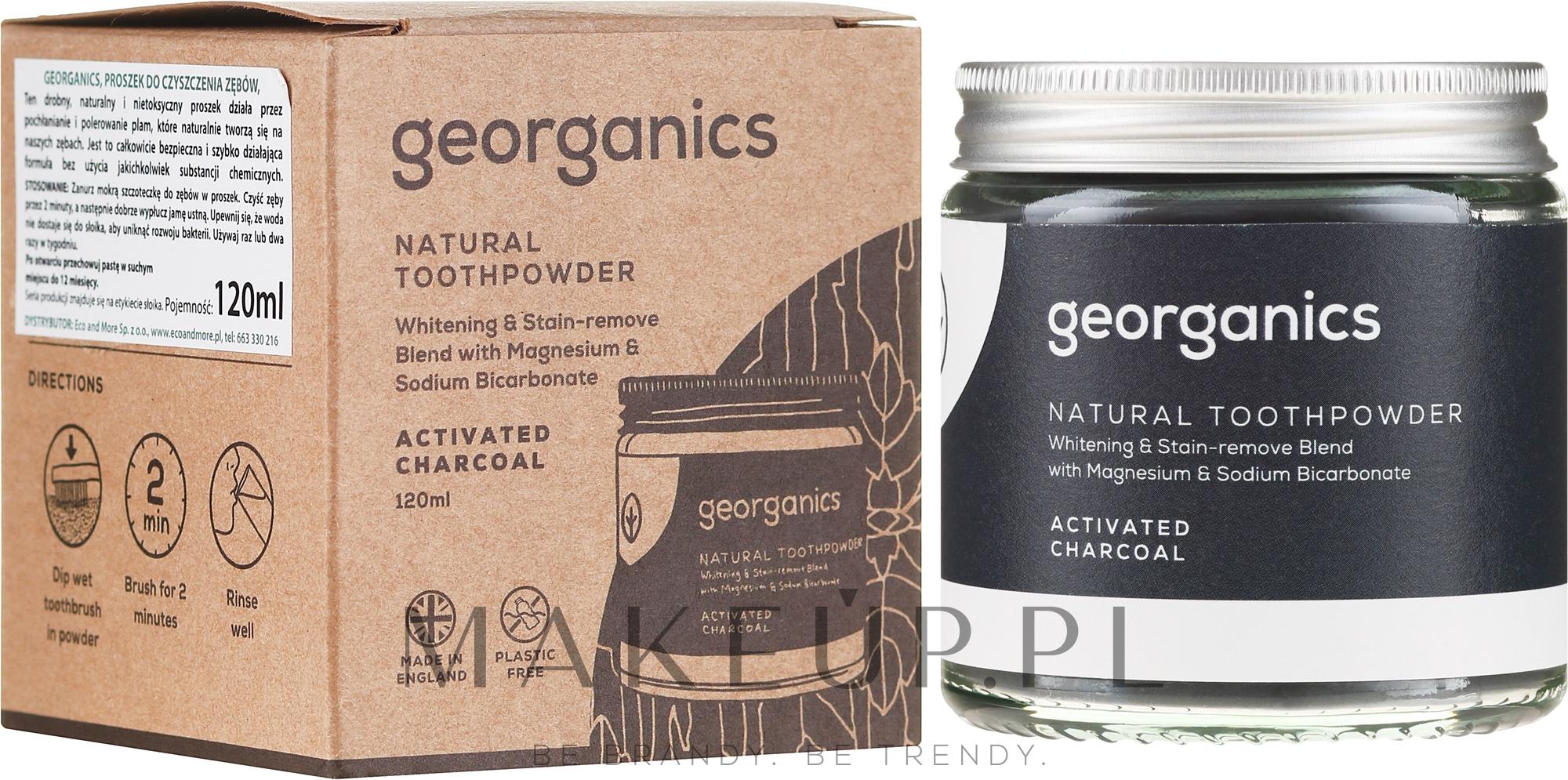 Naturalny proszek do zębów - Georganics Activated Charcoal Natural Toothpowder — фото 120 ml