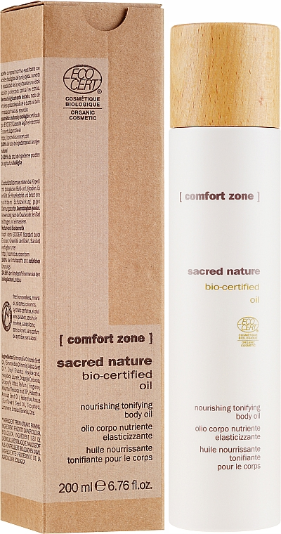 Odżywczy olejek tonizujący do ciała - Comfort Zone Sacred Nature Bio-Certified Oil — фото N1