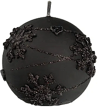 Kup Świeca dekoracyjna, czarna kula, 12 cm - Artman Snowflakes Application