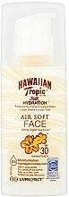 Kup Nawilżający krem przeciwsłoneczny do twarzy SPF 50 - Hawaiian Tropic Silk Hydration Air Soft Face Protective Sun Lotion SPF 30