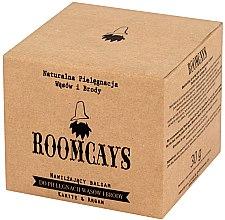 Nawilżający balsam do pielęgnacji wąsów i brody Masło karite i olej arganowy - Roomcays — фото N2