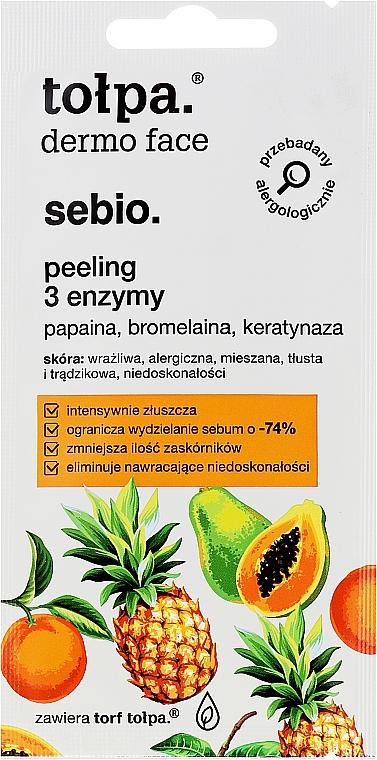 Peeling 3 enzymy - Tołpa Dermo Face Sebio (miniprodukt)