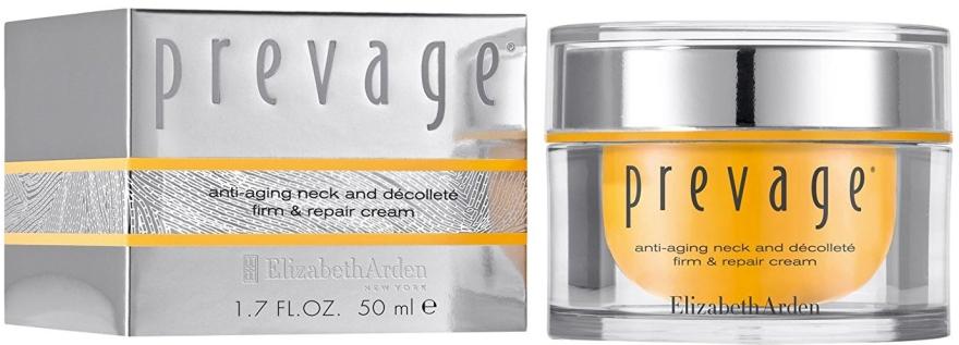 Naprawczy krem przeciwstarzeniowy do szyi i dekoltu - Elizabeth Arden Prevage Neck And Decollette Firm & Repair Cream — фото N1