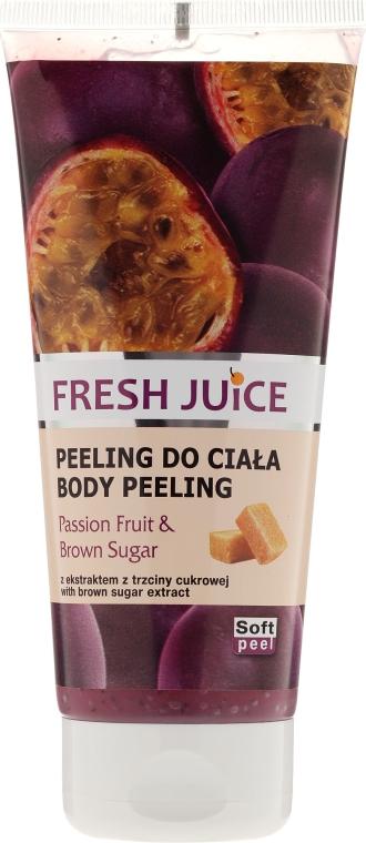 Peeling do ciała Marakuja i brązowy cukier - Fresh Juice Passion Fruit & Brown Sugar