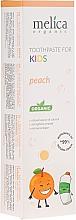 Kup Brzoskwiniowa pasta do zębów dla dzieci - Melica Organic Toothpaste For Kids Peach