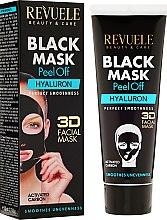 Kup Hialuronowa czarna maska peel-off do twarzy - Revuele Black Mask Peel Off Hyaluron