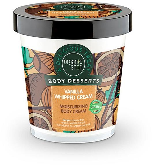 Nawilżający krem do ciała Waniliowa bita śmietana - Organic Shop Body Desserts Vanilla Whipped Cream