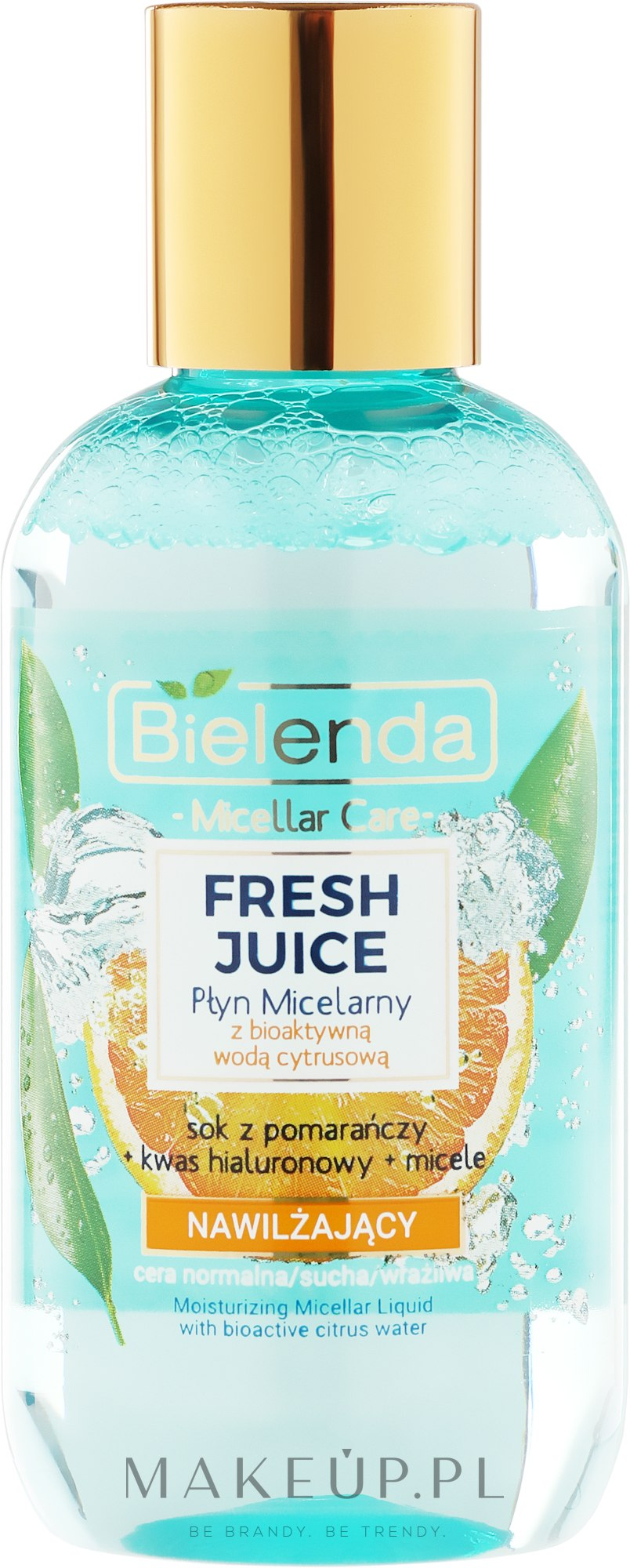 Nawilżający płyn micelarny z bioaktywną wodą cytrusową Pomarańcza - Bielenda Fresh Juice — фото 100 ml