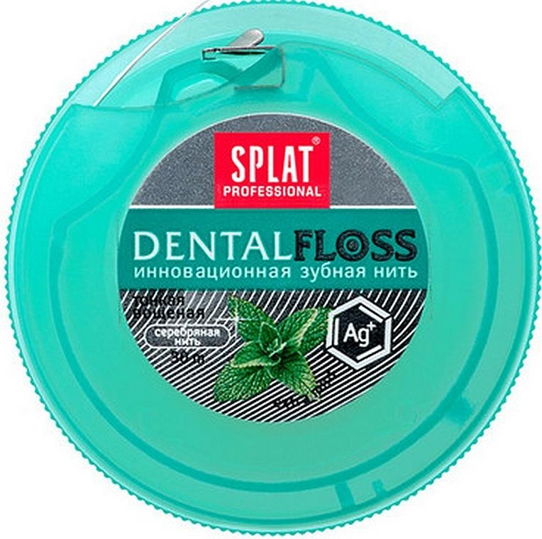 Nić dentystyczna Miętowa z jonami srebra - SPLAT DentalFloss — фото N2