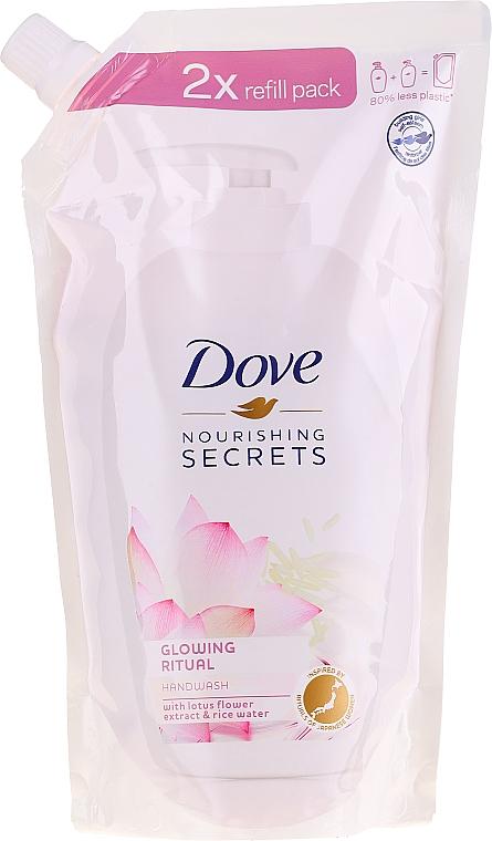 Mydło w płynie do rąk z ekstraktem z kwiatu lotosu i wodą ryżową - Dove Nourishing Secrets Glowing Ritual Handwash (uzupełnienie)