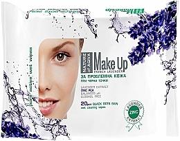 Kup Oczyszczające chusteczki do skóry problematycznej - Nature of Agiva Lavender Wipes Cleaning Make Up