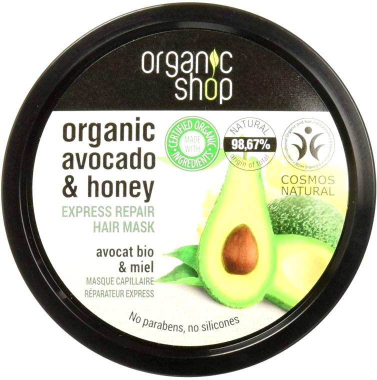 Maska do włosów Awokado i miód - Organic Shop Organic Avocado And Honey Hair Mask