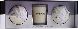 Kup Zestaw - AromaWorks Light Range Petitgrain & Lavender & Mini Aromabomb Gift Set (candle 10 ml + 2 x bomb 175 g)