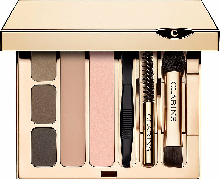 Paleta do makijażu brwi - Clarins Perfect Eyes & Brows Palette — фото N1