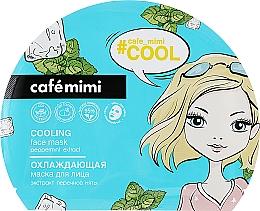 Kup Chłodząca maska do twarzy w płachcie - Cafe Mimi Cooling Face Mask Peppermint Extract