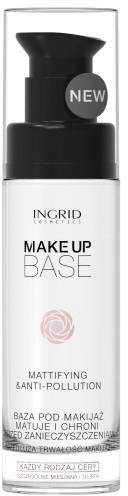 Matująca baza pod makijaż chroniąca przed zanieczyszczeniami - Ingrid Cosmetics Make-up Base Mattifying & Anti-Pollution