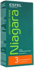 Kup Zestaw do trwałej ondulacji do włosów farbowanych - Estel Professional Niagara Permanent Wave (fix/100ml + lot/100ml + gloves)