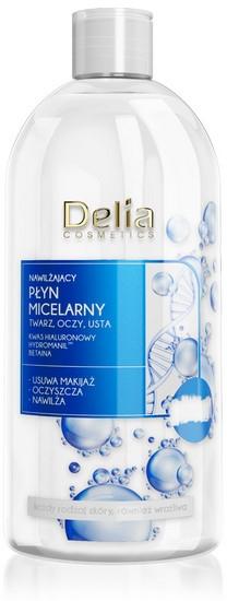 Nawilżający płyn micelarny z kwasem hialuronowym - Delia