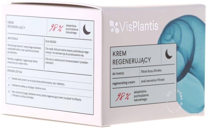 Regenerujący krem do twarzy na noc z filtratem ze śluzu ślimaka - Vis Plantis Helix Vital Care