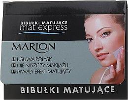Kup Zestaw bibułek matujących do twarzy, 4 +1 - Marion Mat Express