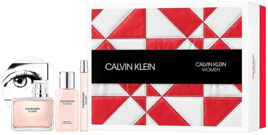 Calvin Klein Women - Zestaw (edp 100 ml + b/lot 100 ml + edp 10 ml)