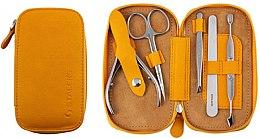 Kup Zestaw do manicure Basic Eco, MS-01E, 5 elementów, musztardowy - Staleks Manicure Set
