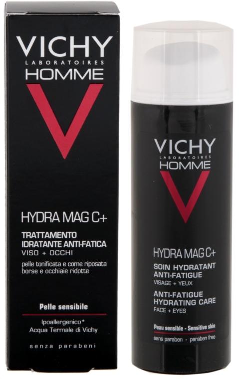Nawilżający krem do twarzy i okolic oczu - Vichy Homme Hydra Mag C+ Anti-Fatigue Hydrating Care — фото N1