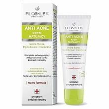 PREZENT! Matujący krem do skóry tłustej, trądzikowej i mieszanej - Floslek Anti Acne Antibacterial Cream — фото N1