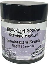 Kup Dezodorant w kremie Węgiel i lawenda - Brooklyn Groove Deodorant Cream