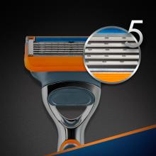 Wymienne wkłady do maszynki, 2 szt. - Gillette Fusion Power — фото N3
