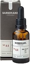 Kup Ochronny olejek ułatwiający golenie - Barberians. №A1 Pre-Shave Oil