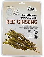 Kup Maska na tkaninie do twarzy z ekstraktem z czerwonego żeń-szenia - Ekel Super Natural Ampoule Mask Red Ginseng