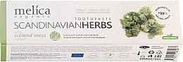 Kup Pasta do zębów Zioła lecznicze Skandynawii - Melica Organic Toothpaste Scandinavian Herbs With Iceland Moss Extract