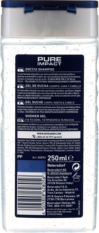 Odświeżający szampon-żel pod prysznic dla mężczyzn - Nivea Men Pure Impact Shower Gel — фото N2