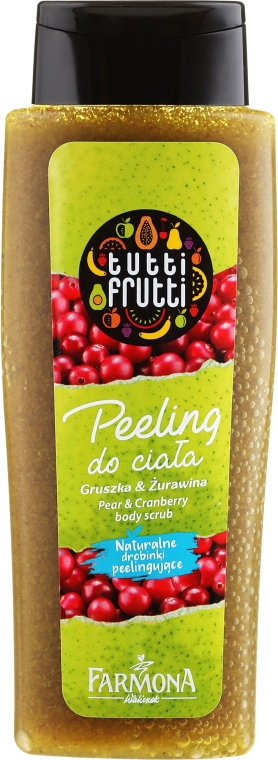Peeling do ciała Gruszka i żurawina - Farmona Tutti Frutti Pear & Cranberry