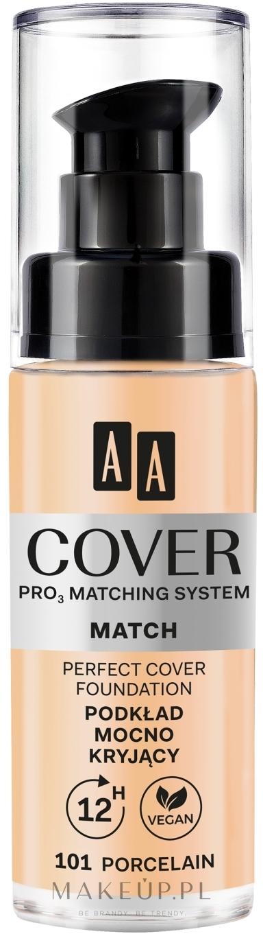 Podkład mocno kryjący do twarzy - AA Cover Match — фото 101 - Porcelain