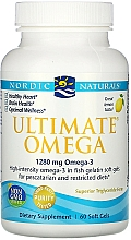 Kup Wegański suplement diety w miękkich kapsułkach, Omega 3, 1280 mg - Nordic Naturals Ultimate Omega Xtra Lemon