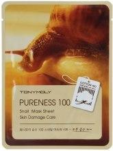 Kup Maseczka z ekstraktem ze śluzu ślimaka na tkaninie - Tony Moly Pureness 100 Snail Mask Sheet