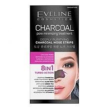 Kup Głęboko oczyszczające paski na nos 8 w 1 - Eveline Cosmetics Charcoal